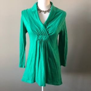 [deletta] Anthropologie green top size small